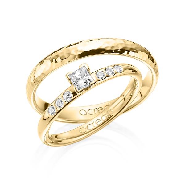 Verlobungsring Diamantring 0,32 ct. tw, vs & tw, si Gelbgold 585
