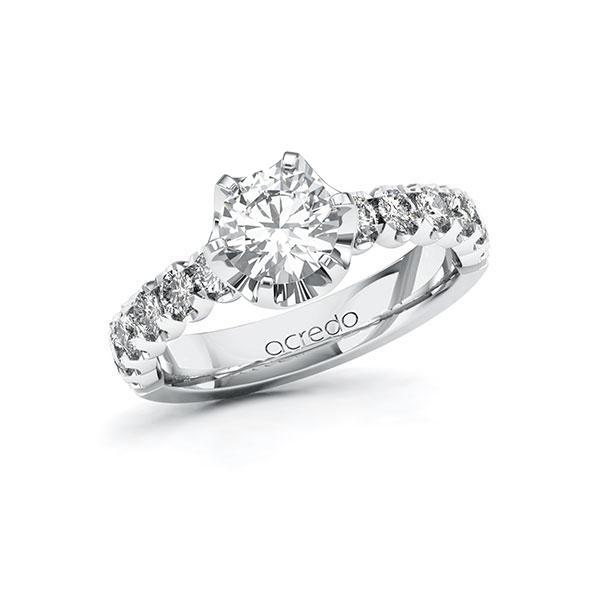 Verlobungsring Diamantring 1,6 ct. G SI & tw, si Weißgold 585