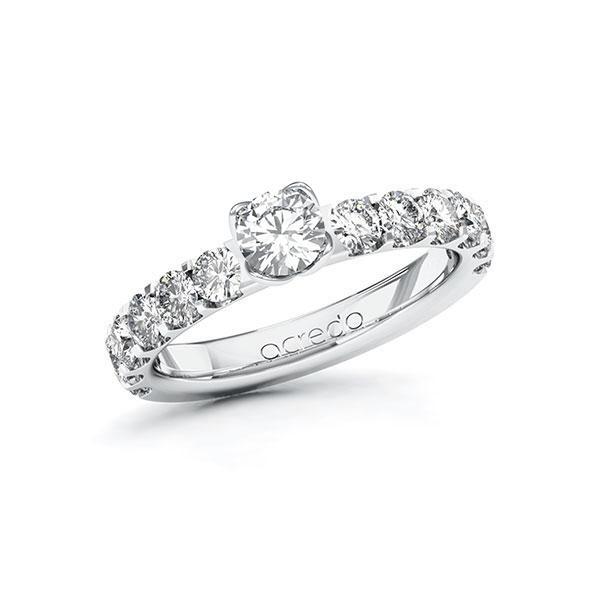 Verlobungsring Diamantring 1,48 ct. G SI & tw, si Weißgold 585