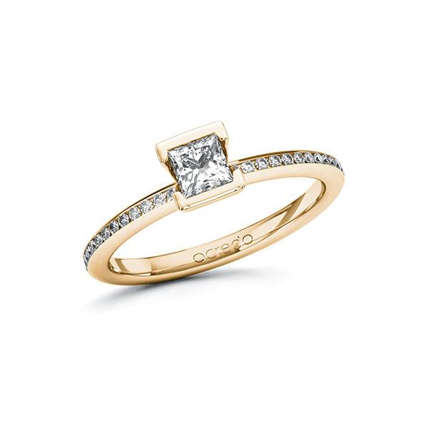 Verlobungsring Diamantring 0,55 ct. G VS & tw, si Roségold 585