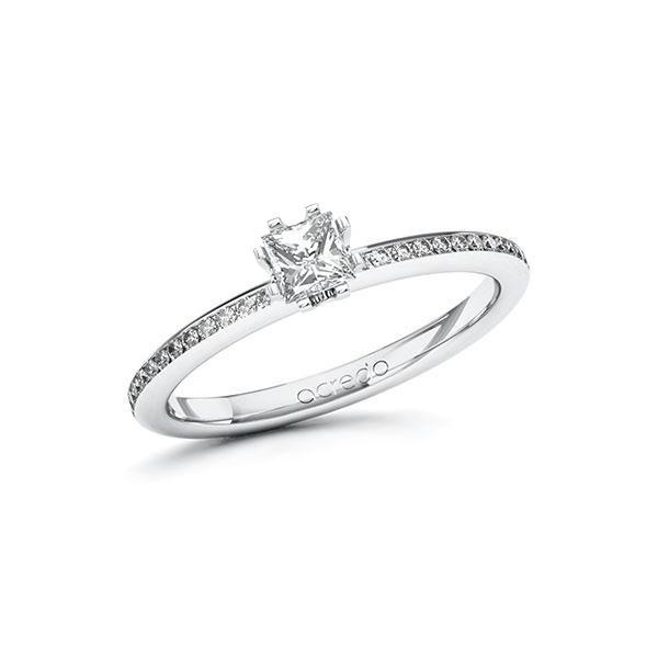 Verlobungsring Diamantring 0,45 ct. G VS & tw, si Weißgold 585