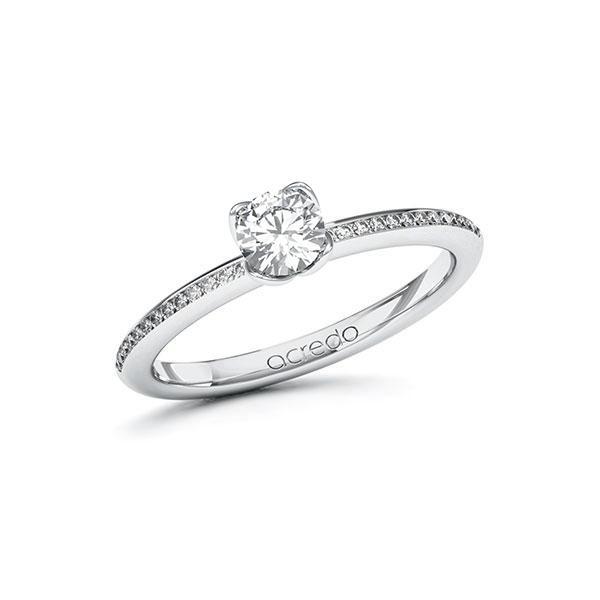 Verlobungsring Diamantring 0,53 ct. G SI & tw, si Weißgold 585