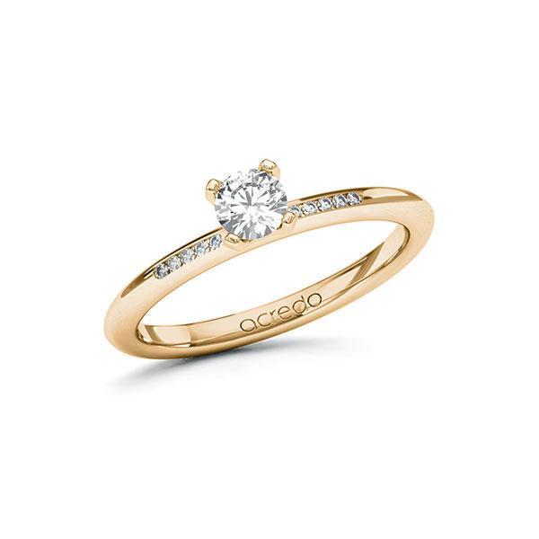 Verlobungsring Diamantring 0,35 ct. G SI & tw, si Roségold 585