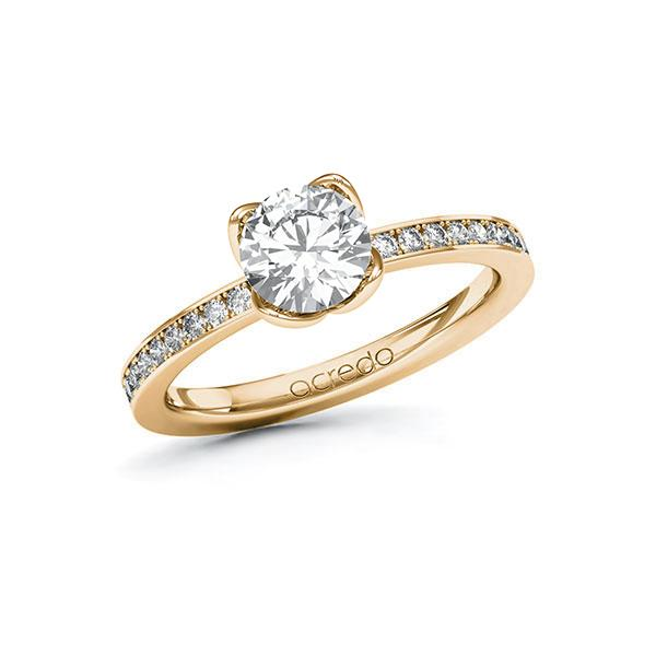 Verlobungsring Diamantring 1,2 ct. G SI & tw, si Roségold 585