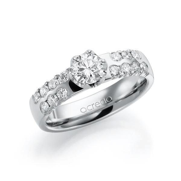 Verlobungsring Diamantring 1,06 ct. G SI & tw, si Weißgold 585