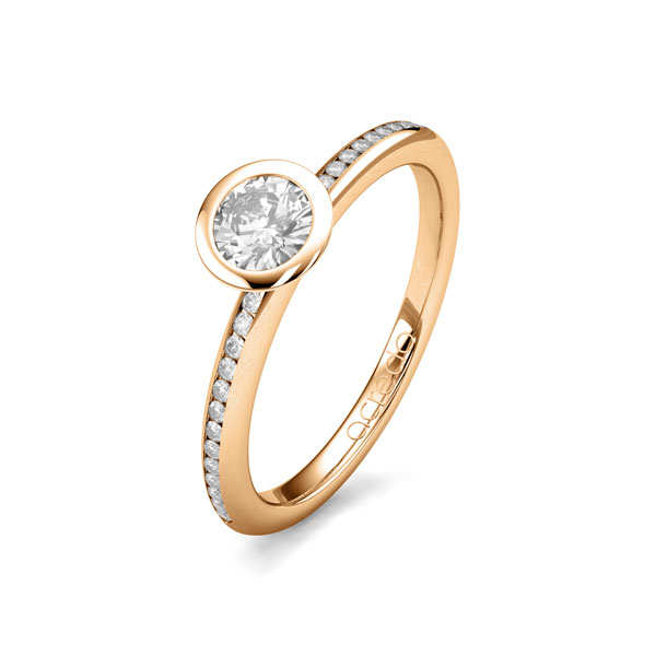 Trauringe Roségold 585 mit 0,43 ct. tw, si & G SI