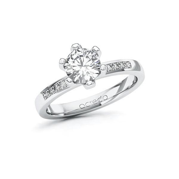 Verlobungsring Diamantring 1,1 ct. G SI & tw, si Weißgold 585
