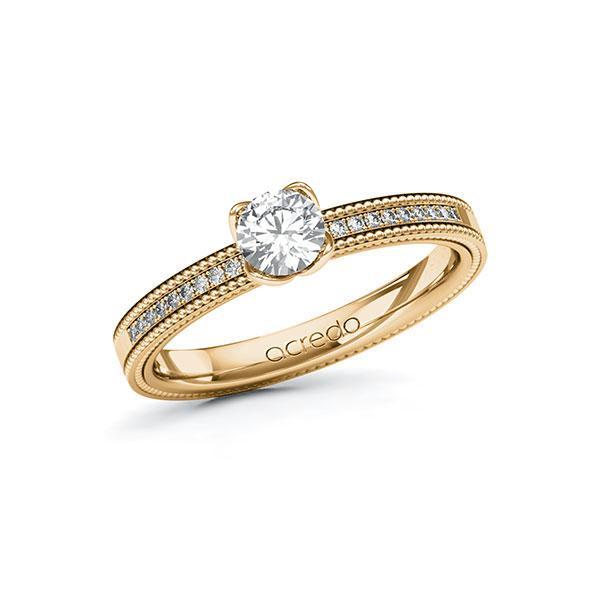 Verlobungsring Diamantring 0,5 ct. G SI & tw, si Roségold 585