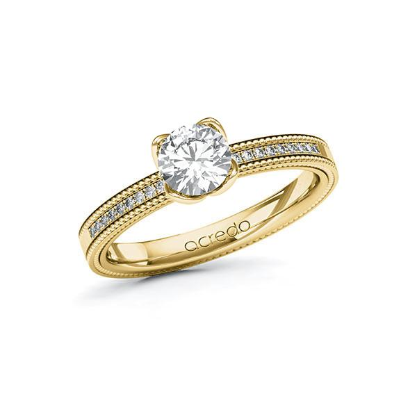 Verlobungsring Diamantring 0,8 ct. G SI & tw, si Gelbgold 585