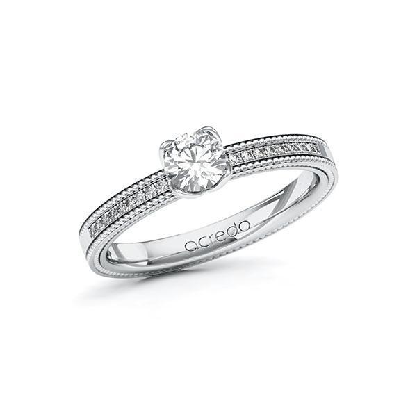 Verlobungsring Diamantring 0,5 ct. G SI & tw, si Weißgold 585