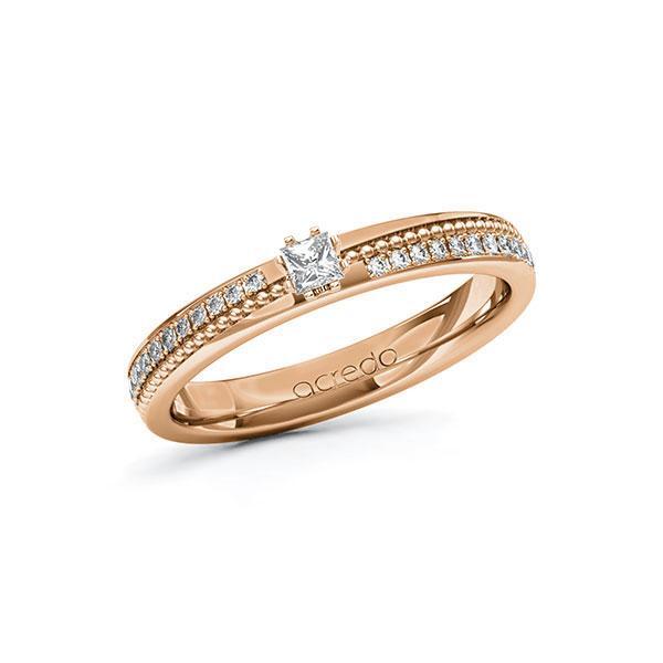 Verlobungsring Diamantring 0,396 ct. tw, vs & tw, si Rotgold 585