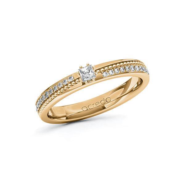 Verlobungsring Diamantring 0,396ct. tw, vs & tw, si Roségold 585
