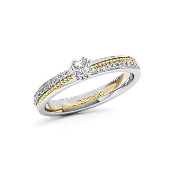 Verlobungsring Diamantring 0,496ct. & tw, si Weißgold 585 Gelbgold 585
