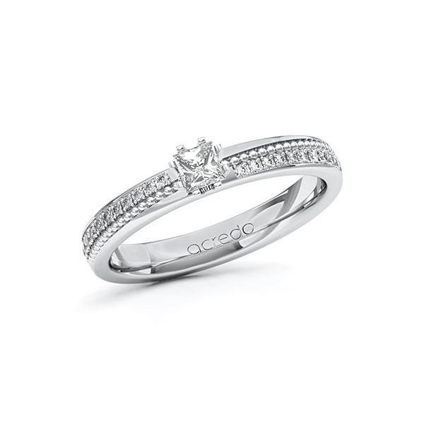 Verlobungsring Diamantring 0,496ct. tw, vs & tw, si Weißgold 585