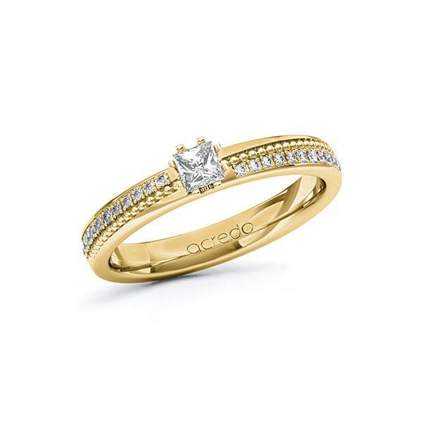 Verlobungsring Diamantring 0,496 ct. tw, vs & tw, si Gelbgold 585