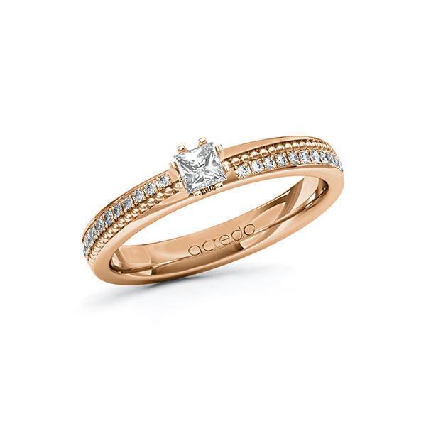 Verlobungsring Diamantring 0,496 ct. tw, vs & tw, si Rotgold 585