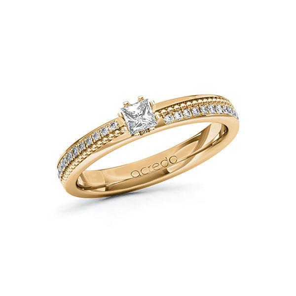 Verlobungsring Diamantring 0,496ct. tw, vs & tw, si Roségold 585