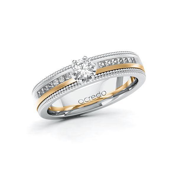 Verlobungsring Diamantring 0,62ct. & tw, si Weißgold 585 Roségold 585