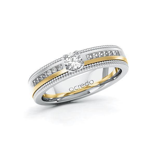 Verlobungsring Diamantring 0,62ct. & tw, si Weißgold 585 Gelbgold 585