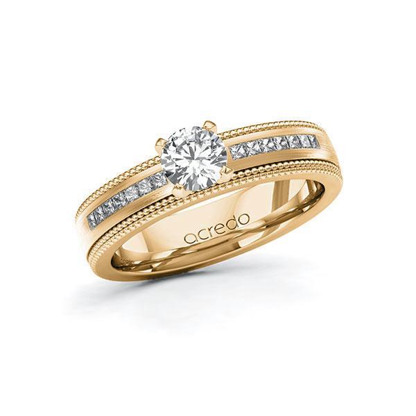 Verlobungsring Diamantring 0,92 ct. G VS & tw, si Roségold 585