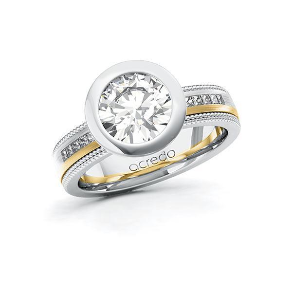 Verlobungsring Diamantring 2,42ct. G VS & tw, si Weißgold 585 Gelbgold 585