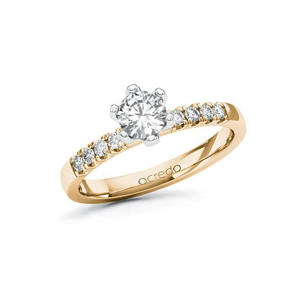 Verlobungsring Diamantring 0,66ct. G SI & tw, si Roségold 585 Weißgold 585