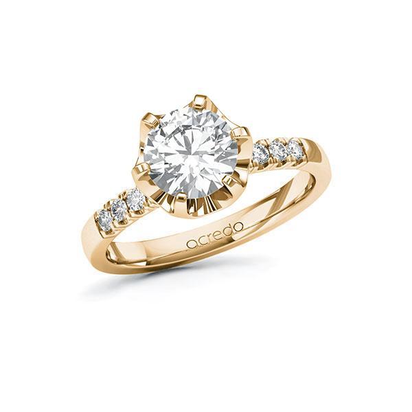 Verlobungsring Diamantring 1,66 ct. G VS & tw, si Roségold 585