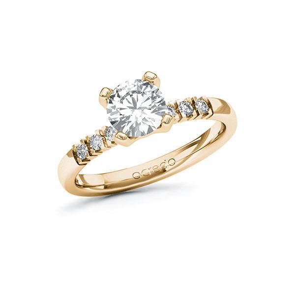 Verlobungsring Diamantring 1,12 ct. G VS & tw, si Roségold 585