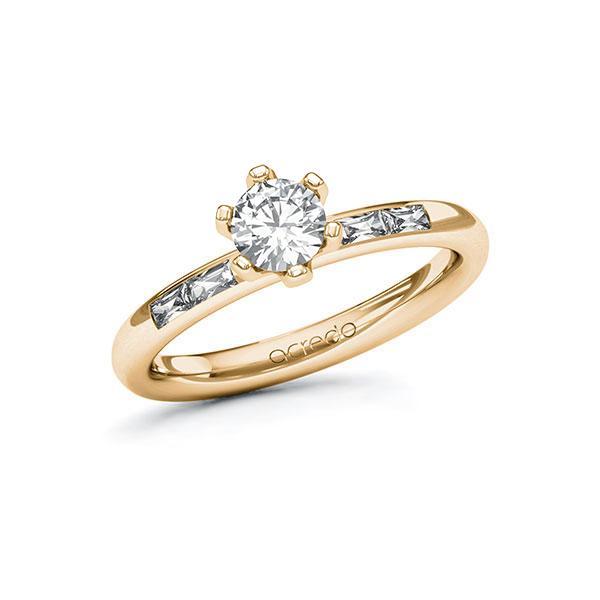 Verlobungsring Diamantring 0,7 ct. G SI & tw, vs Roségold 585