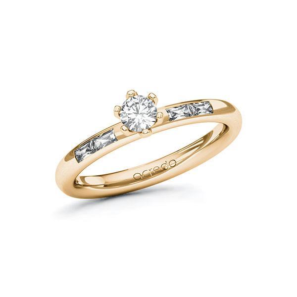 Verlobungsring Diamantring 0,45 ct. tw, si & tw, vs Roségold 585