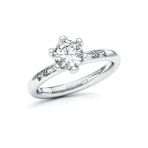 Verlobungsring Diamantring 1,2 ct. G VS & tw, vs Weißgold 585