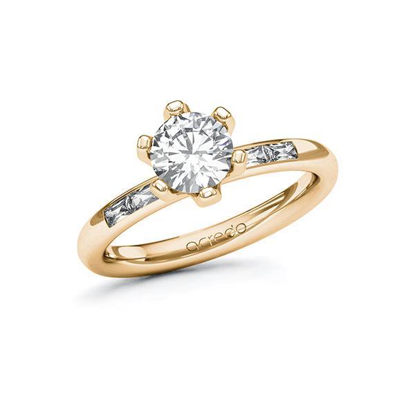 Verlobungsring Diamantring 1,2 ct. G VS & tw, vs Roségold 585