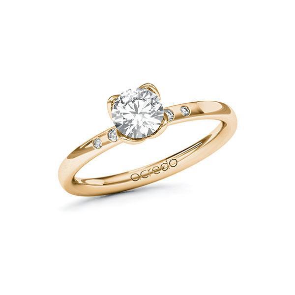 Verlobungsring Diamantring 0,73 ct. G VS & tw, si Roségold 585