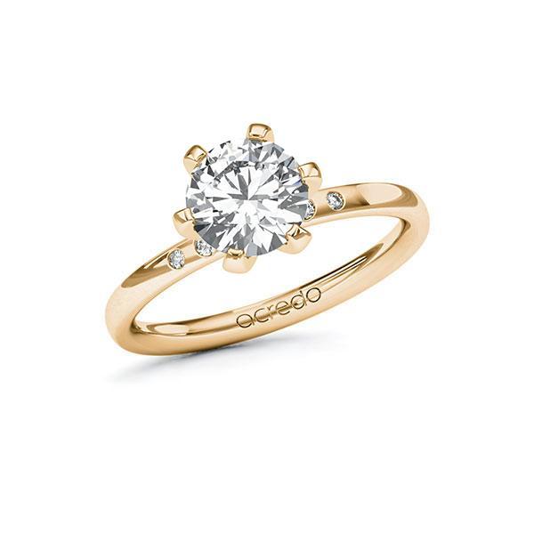 Verlobungsring Diamantring 1,53 ct. G VS & tw, si Roségold 585