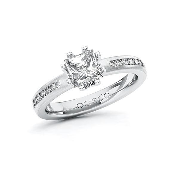 Verlobungsring Diamantring 1,21 ct. G VS & tw, si Weißgold 585