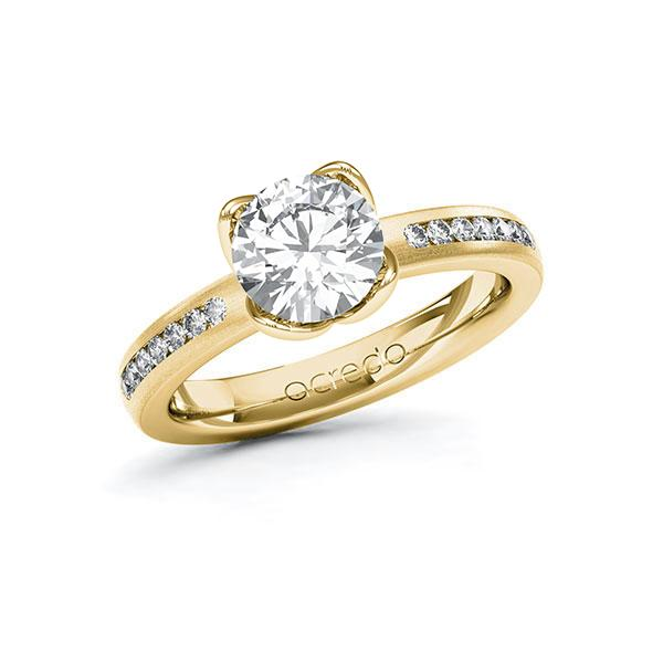 Verlobungsring Diamantring 1,71 ct. G VS & tw, si Gelbgold 585