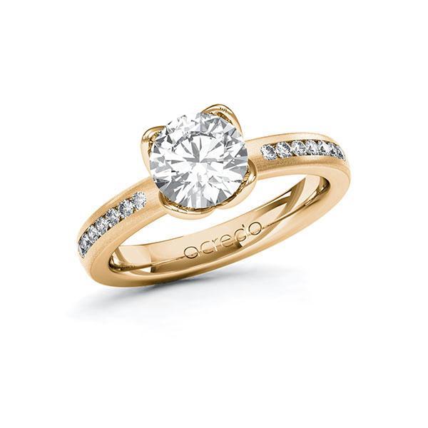 Verlobungsring Diamantring 1,71 ct. G VS & tw, si Roségold 585