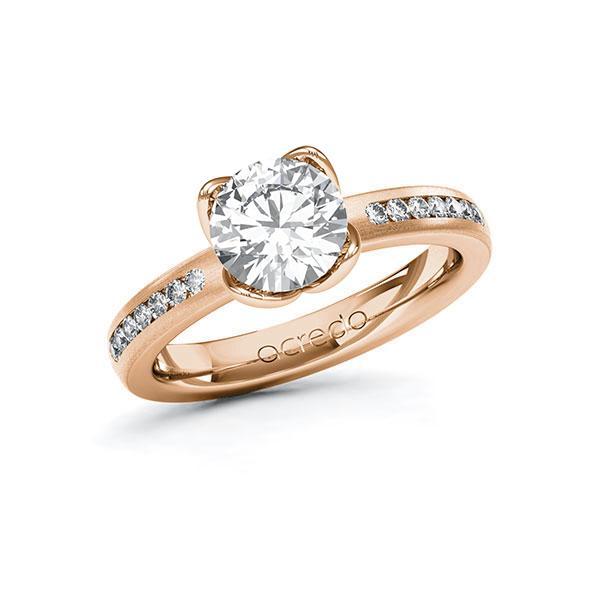 Verlobungsring Diamantring 1,71 ct. G VS & tw, si Rotgold 585
