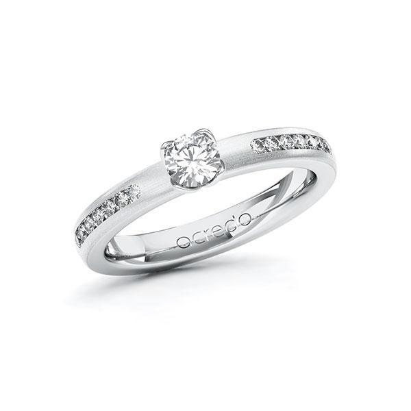 Verlobungsring Diamantring 0,51 ct. G SI & tw, si Weißgold 585