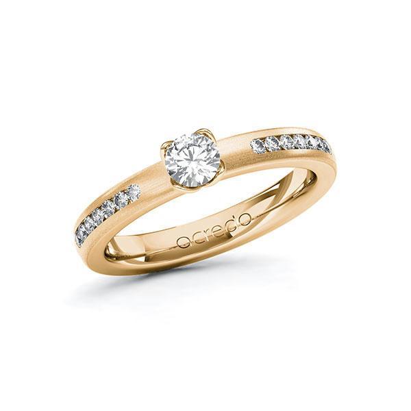 Verlobungsring Diamantring 0,51 ct. G SI & tw, si Roségold 585