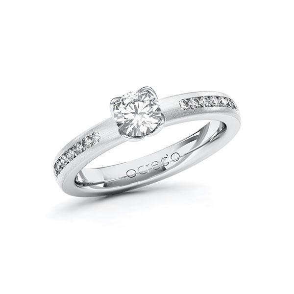 Verlobungsring Diamantring 0,71 ct. G SI & tw, si Weißgold 585