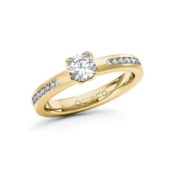 Verlobungsring Diamantring 0,71 ct. G SI & tw, si Gelbgold 585