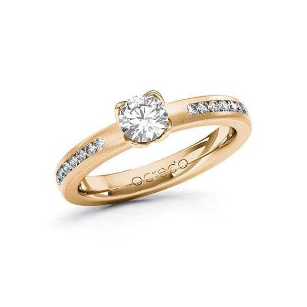 Verlobungsring Diamantring 0,71 ct. G SI & tw, si Roségold 585
