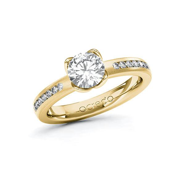 Verlobungsring Diamantring 1,21 ct. G VS & tw, si Gelbgold 585