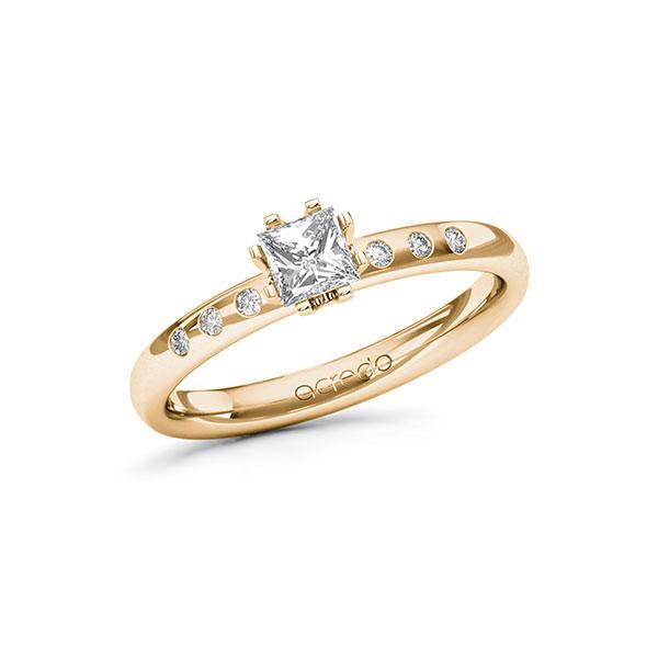 Verlobungsring Diamantring 0,448 ct. G VS & tw, si Roségold 585