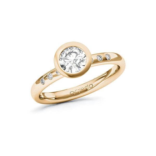 Verlobungsring Diamantring 0,748 ct. G VS & tw, si Roségold 585