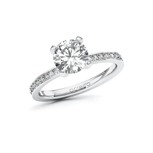 Verlobungsring Diamantring 1,7 ct. G VS & tw, si Weißgold 585