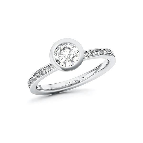 Verlobungsring Diamantring 0,9 ct. G VS & tw, si Weißgold 585