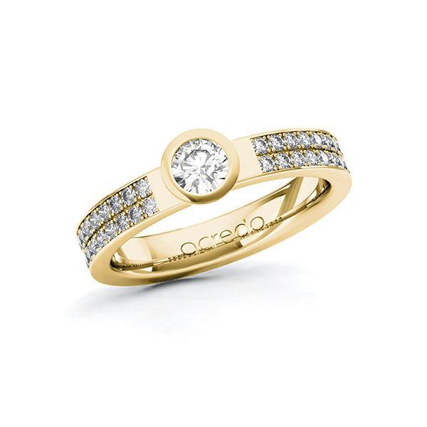 Verlobungsring Diamantring 0,66 ct. G SI & tw, si Gelbgold 585