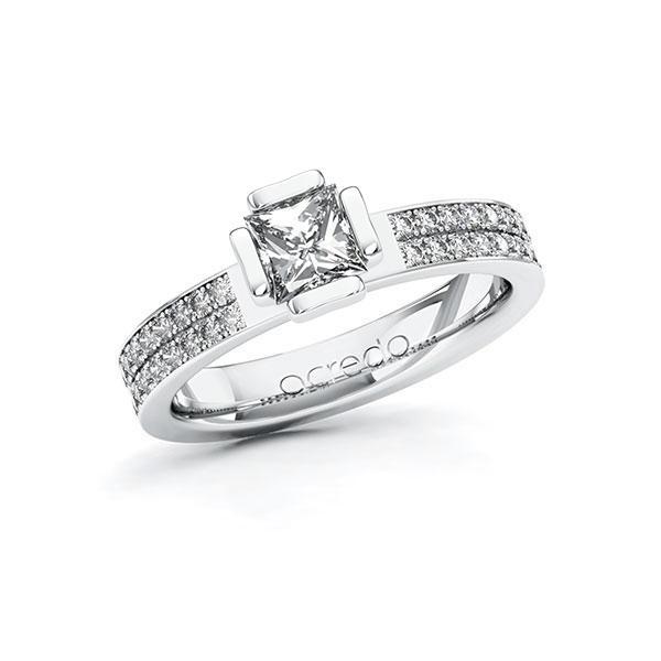 Verlobungsring Diamantring 1,06 ct. G VS & tw, si Weißgold 585